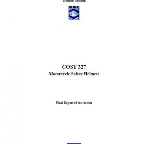 Motosiklet Kask Güvenliği COST 327 Raporu